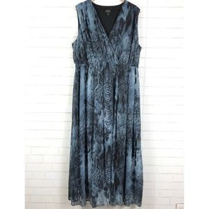 DASH by Kardashian Snake Print Maxi Dress